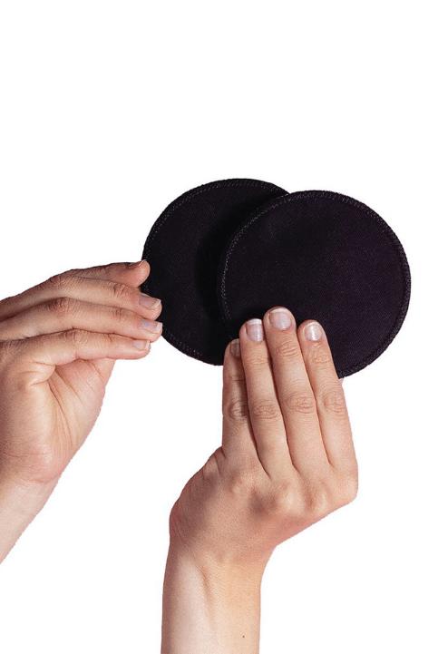 Discos de lactancia algodón negros Carriwell