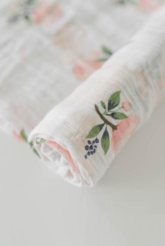 Muselina algodón Flores 120×120