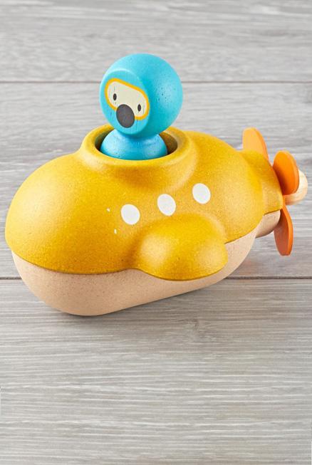 Submarino juguete bañera madera