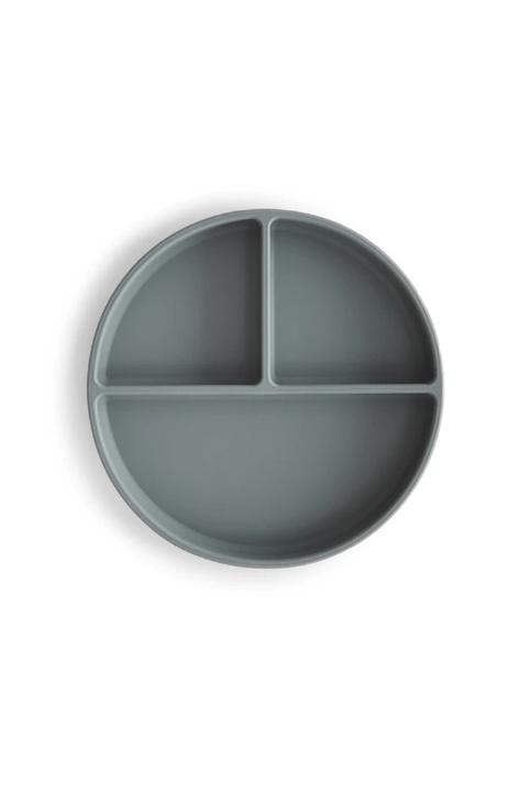 Plato de silicona con ventosa Mushie Gris
