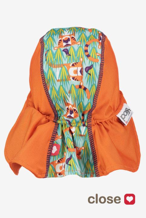 Gorro protección solar niño bebé tigres