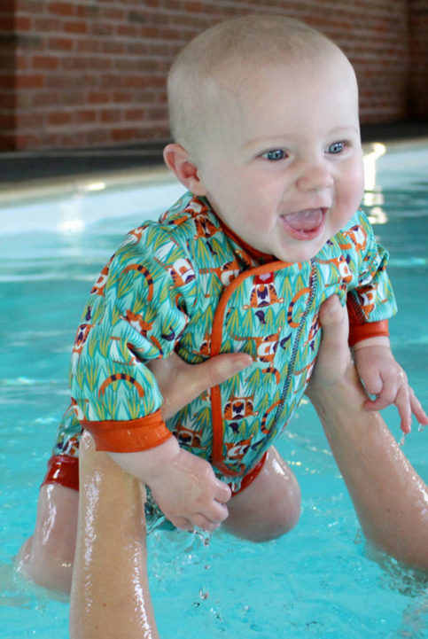 traje baño bebe tigres