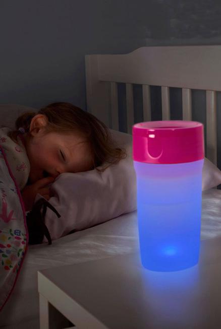 Litecup vaso con luz antiderrame