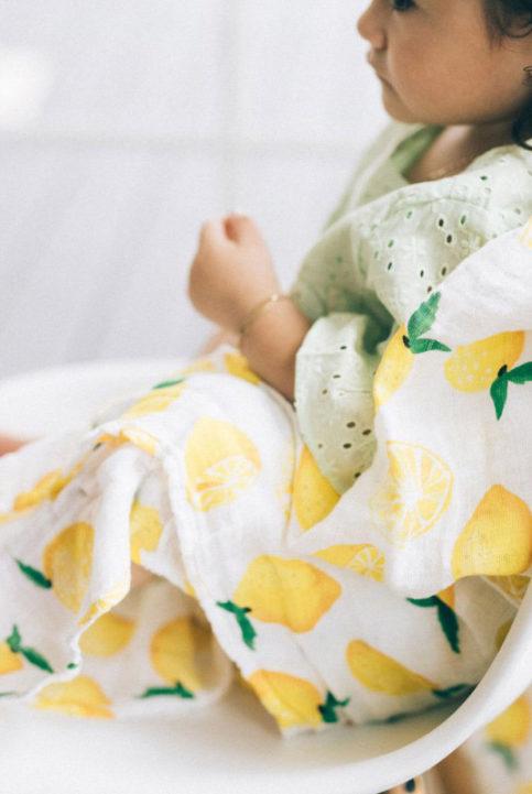 muselina algodon estampado limones