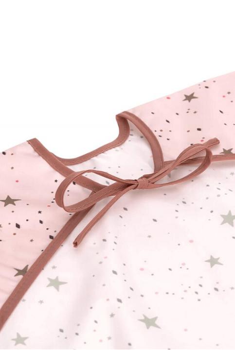 Babero con Mangas Estrellas Rosa