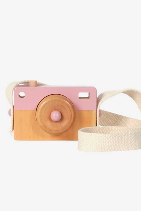 Cámara fotográfica de aventuras rosa