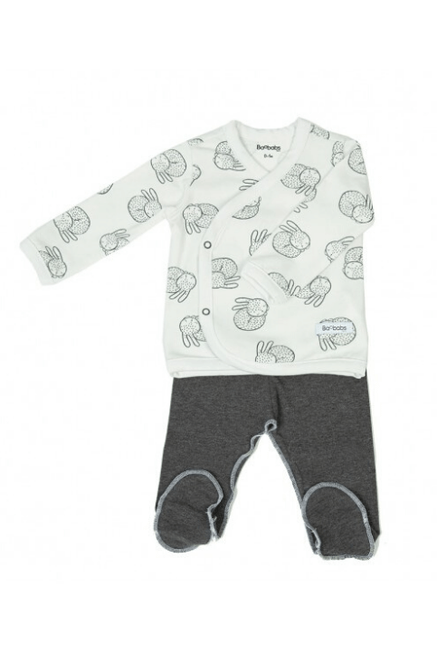 Conjunto recién nacido pijama White Bunny