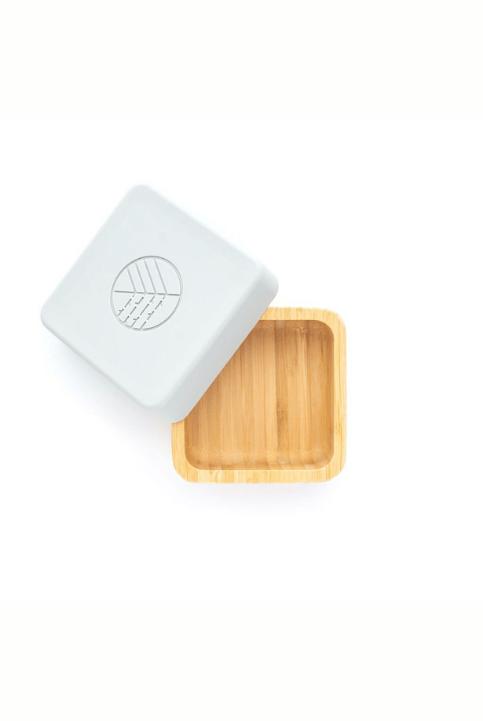 Set 2 cajas Snack Bambú Rosa/Gris