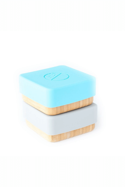 Set 2 cajas Snack Bambú Azul/Gris