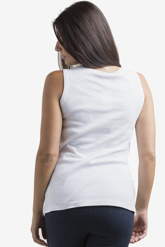 Camiseta interior de lactancia básica